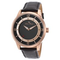 Lucien Piccard Men's 45mm Grotto Quartz Leather Strap Watch