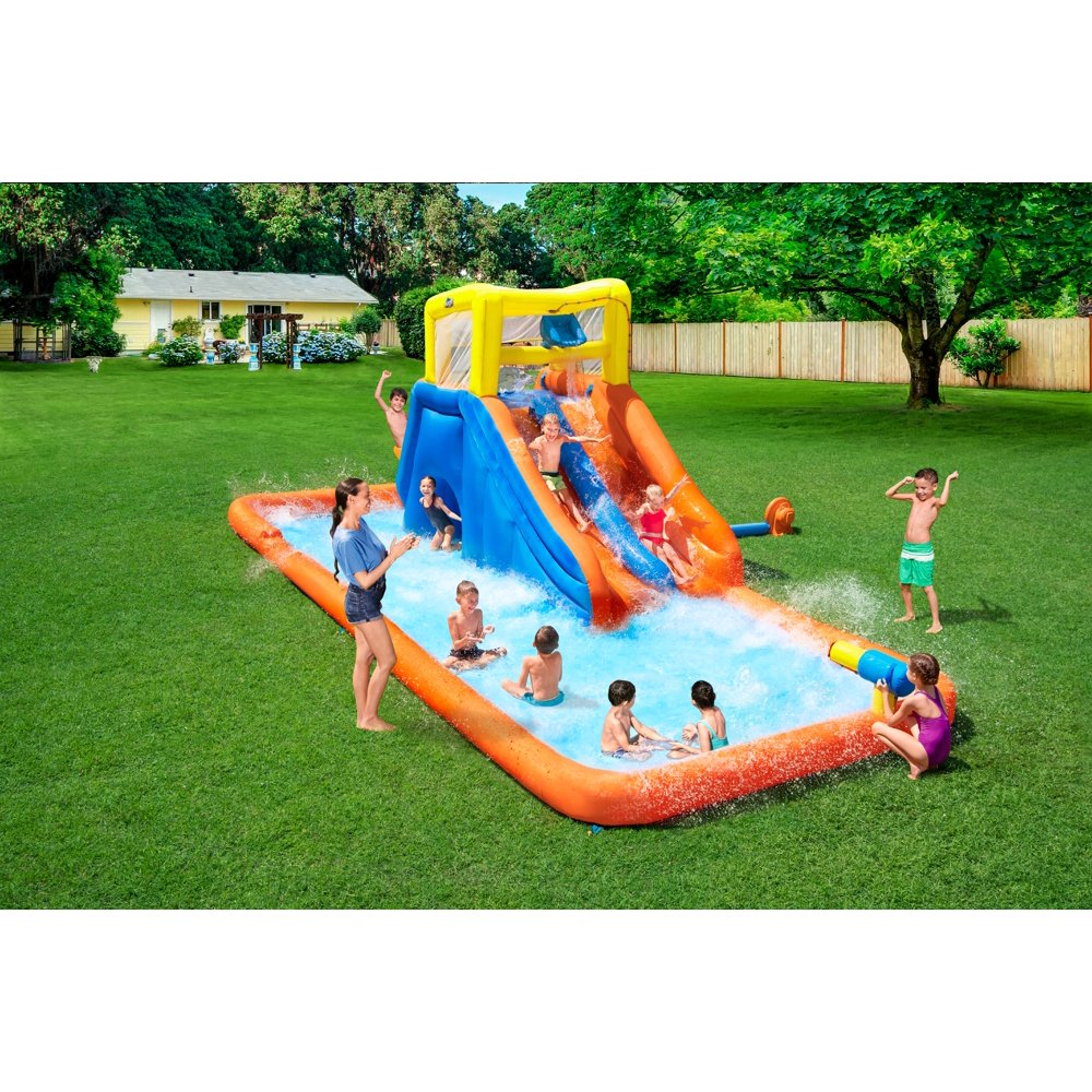 "H2OGO! 8'8"" Maui Mountain Kids Inflatable Water Park"