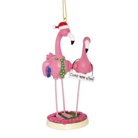 Christmas Flamingo (Boy Meets Girl Pink Flamingos Come Here Often Funny Christmas Holiday)