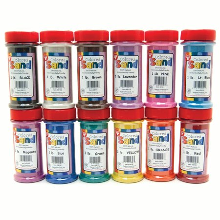 Color Of Sand (Bucket O' Sand, Assorted Colors, 1lb, Pack of)