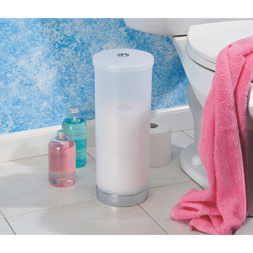 InterDesign Aria Toilet Paper Roll Holder Reserve Canister