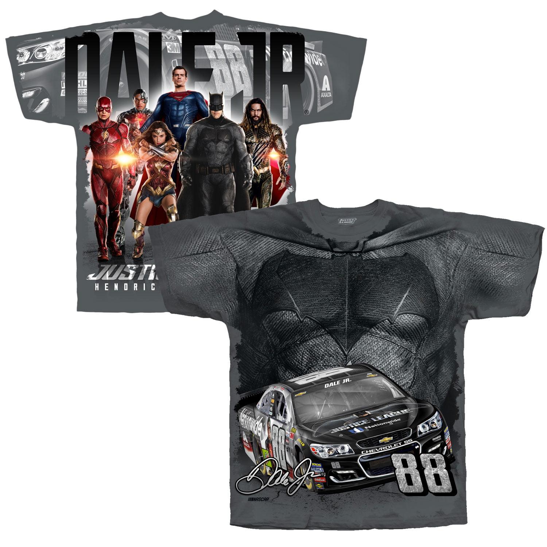 Dale Earnhardt Jr. Hendrick Motorsports Team Collection Justice League Total Print T-Shirt - Charcoal