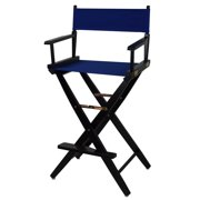 Black Frame Directors Chair with Royal Blue Canvas