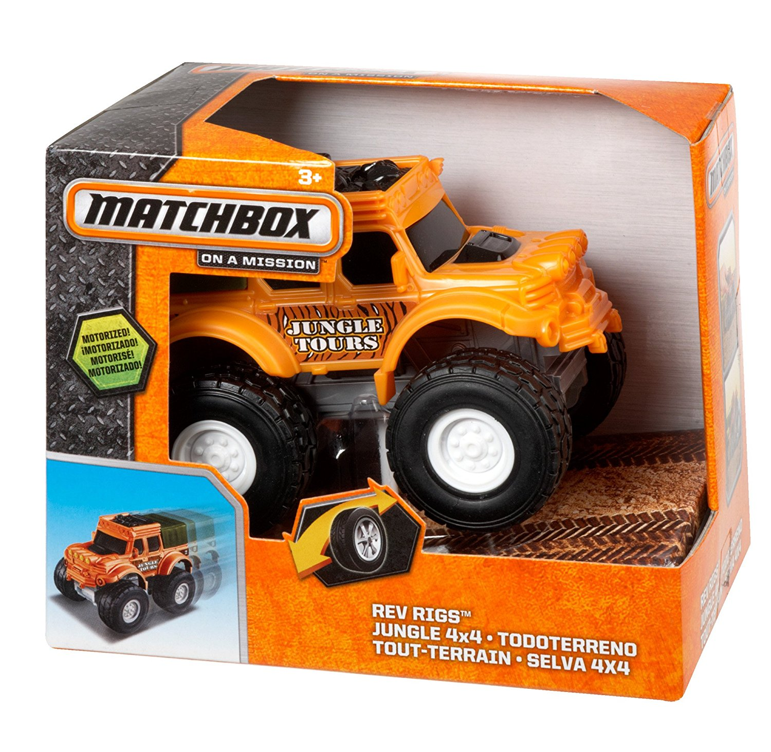 4x4 Rev Rigs Jungle, Finely detailed 1:43 scale vehicles By Matchbox by
