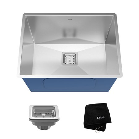 "Kraus Pax 24"" Rectangular Undermount 18 Ga. Stainless Steel Laundry Utility Sink"