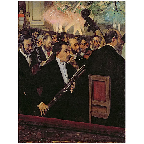 "Trademark Fine Art ""The Opera Orchestra 1870"" Canvas Art by Edgar Degas"