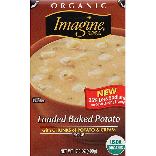 Imagine Organic Loaded Baked Potato Soup, 17.3 oz, (Pack of 12)
