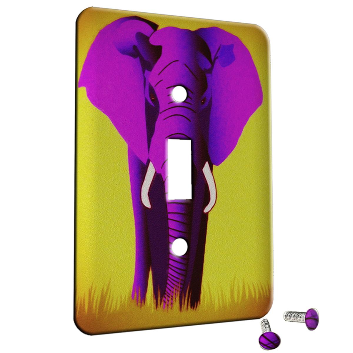 Elephant Pink Design 1 Gang Switch Plate Cover Metal Walmart Com Walmart Com