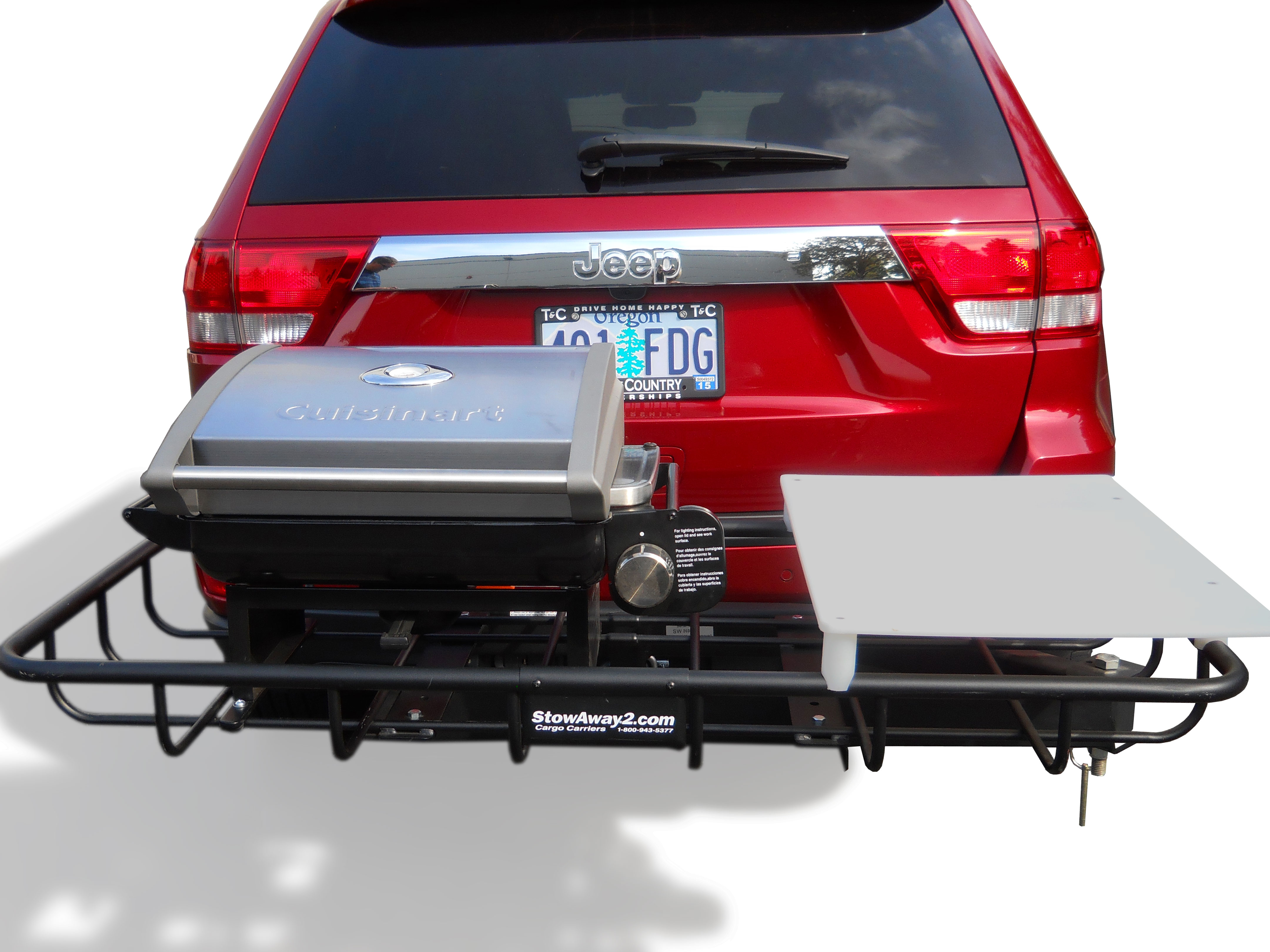 StowAway Hitch Mount Grill for Tailgating and Grilling 2 Inch