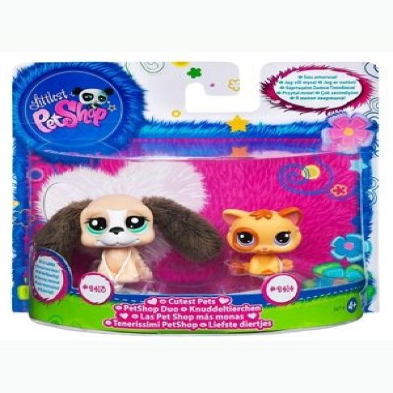 Hasbro Littlest Pet Shop Cutest Pets Figures Beagle Cat
