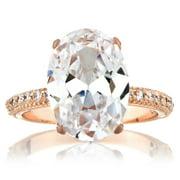 Rose Goldtone Cubic Zirconia Wedding-style Ring Size 6
