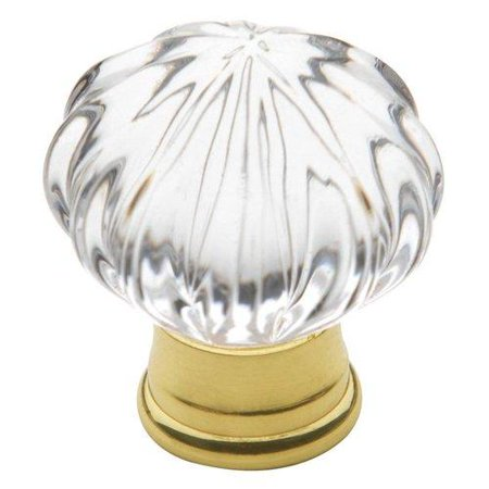 Baldwin 4326.030 1-Inch Crystal Cabinet Knob, Polished (Lifetime Polished Brass Crystal)
