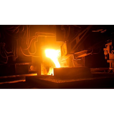 LAMINATED POSTER Steel Industry Blast Furnace Liquid Fire Iron Poster Print 24 x 36