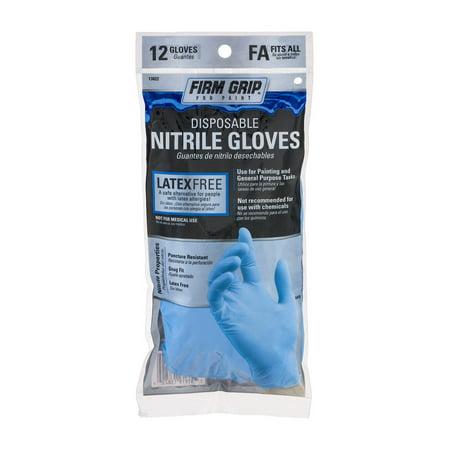Fibre Grips - Firm Grip Nitrile Gloves, 12ct
