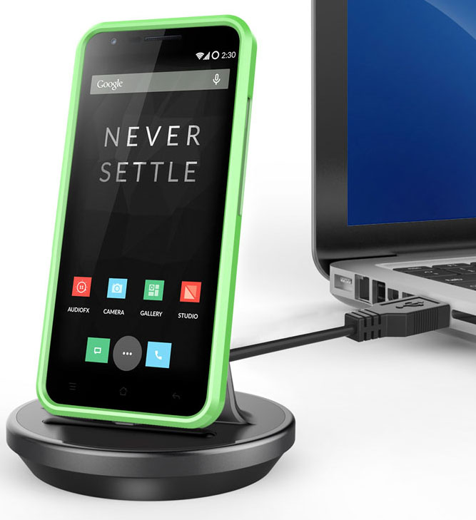 KiDiGi OMNI DESKTOP CHARGER SYNC USB CRADLE DOCKING STATION FOR ONEPLUS TWO 2