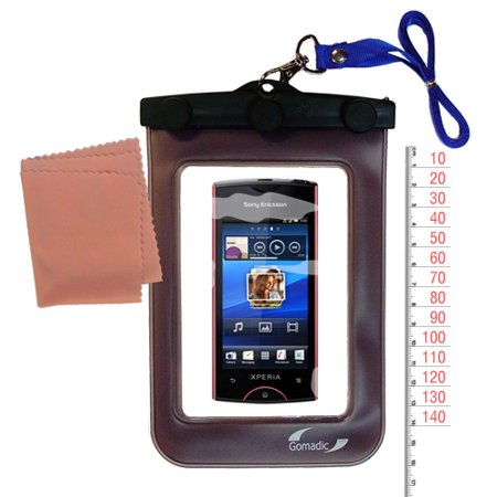 Gomadic Clean and Dry Waterproof Protective Case Suitablefor the Sony Ericsson Xperia ray to use Underwater ()