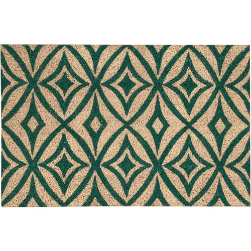 "Waverly Greetings ""Centro"" Teal Doormat by Nourison"