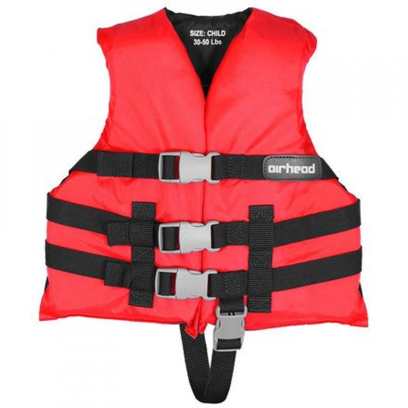 Airhead 10002-02-A-RD Red Nylon Child Life Vest by