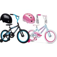 Deals on Huffy 16-inch Rock It Boys Bike + Bell Pint Bike Helmet