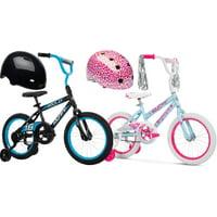 Huffy 16-inch Rock It Boys Bike + Bell Pint Bike Helmet
