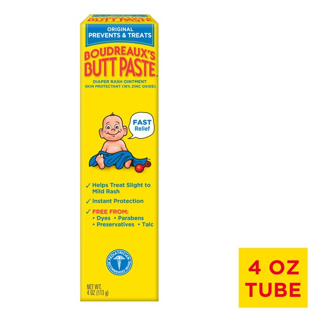 Boudreaux's Butt Paste Diaper Rash Ointment - Original, 4 Ounce