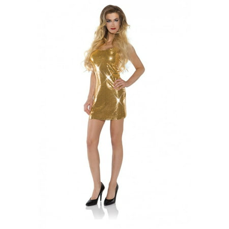 Sexy Gold Sequin Disco Flapper The Great Gatsby Mini Dress Halloween Costume](Sequin Flapper Costume)