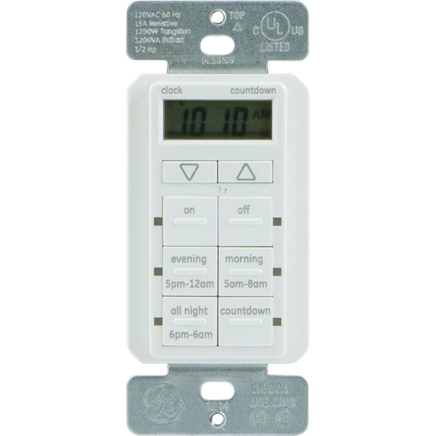 GE 25055 Touchsmart In Wall Digital Timer With 6 Pushbuttons (White)