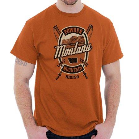 Brisco Brands Montana Powder Mountain Trail Short Sleeve Adult T-Shirt