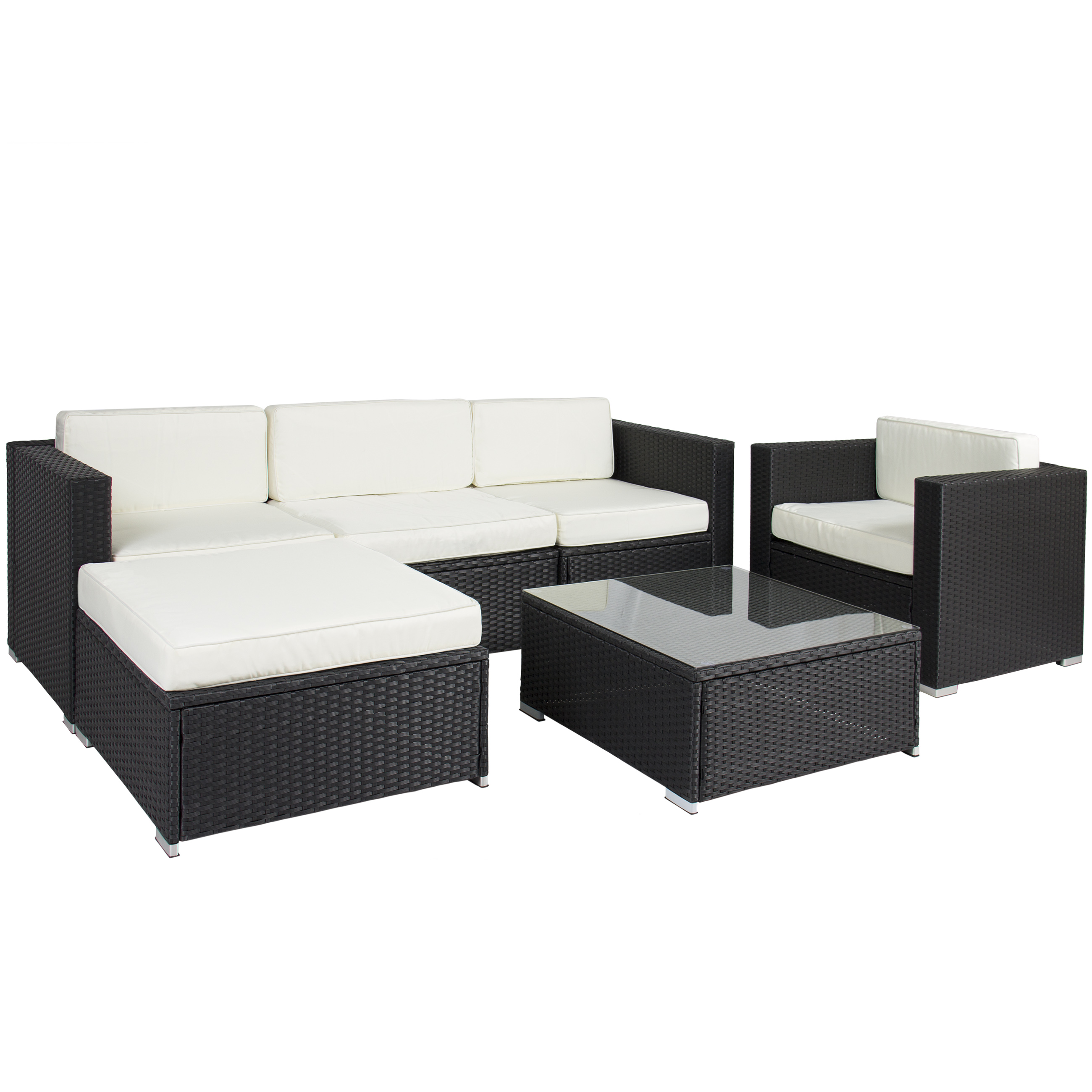 Best Choice Products 6pc Outdoor Patio Garden Furniture Wicker
