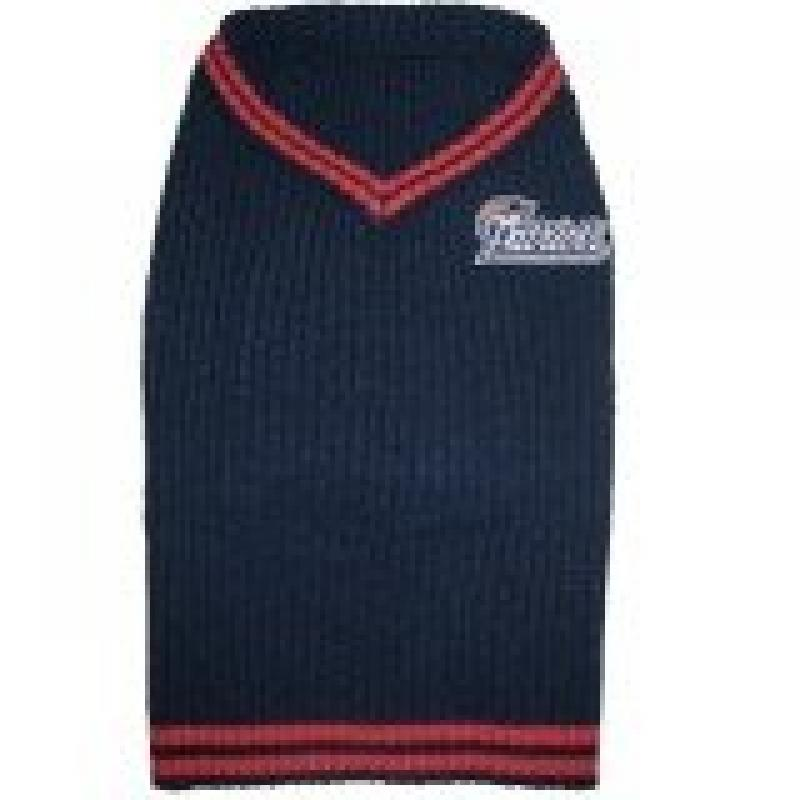 NFL New England Patriots Dog Sweater Large