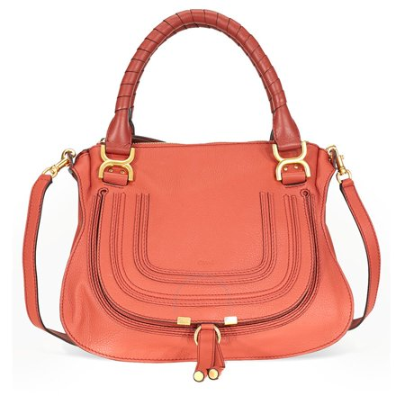 0dac197c2a Chloe Marcie Leather Crossbody Bag - Terracotta Red - Walmart.com