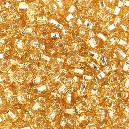 6/0 S/L Gold Glass Seed Beads 40 (Handmade Seed Bead)