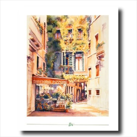 Old Italian Restaurant Flower Wall Picture Art (Best Italian Restaurants In North Beach)