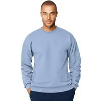 Hanes Mens Ultimate Cotton; Heavyweight Crewneck Sweatshirt, Color: Light Blue, Size: S --- PACK OF 2 (Men's Athleticwear)