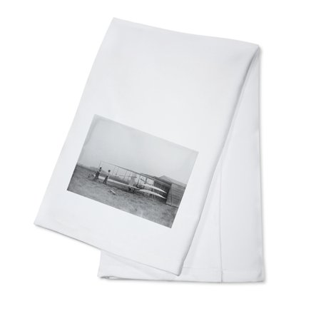 - Wilbur & Orville Wright in 2nd powered machine - Vintage Photograph (100% Cotton Kitchen Towel)
