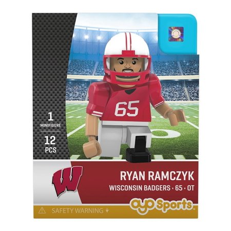 Ryan Ramczyk NCAA Wisconsin Badgers Generation 2 G2 Mini Figure, Officially Licensed By OYO