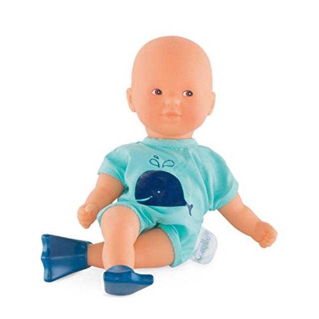 Corolle Mon Premier Poupon Mini Bath Blue Toy Baby Doll, Pink