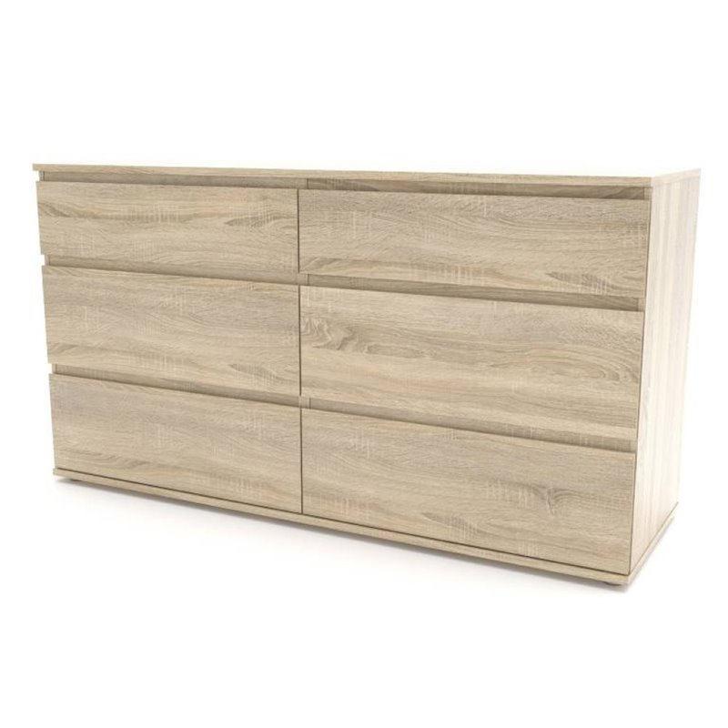 Aurora 6 Drawer Double Dresser
