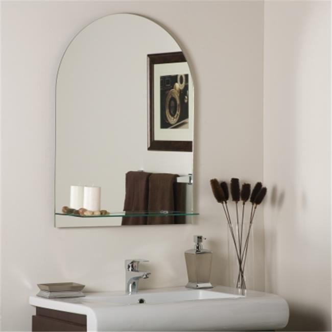 Decor Wonderland SSM112 Roland Frameless Wall Mirror with Shelf