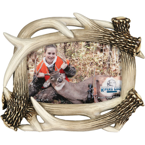 "Rivers Edge Products 4"" x 6"" Deer Antler Picture Frame"