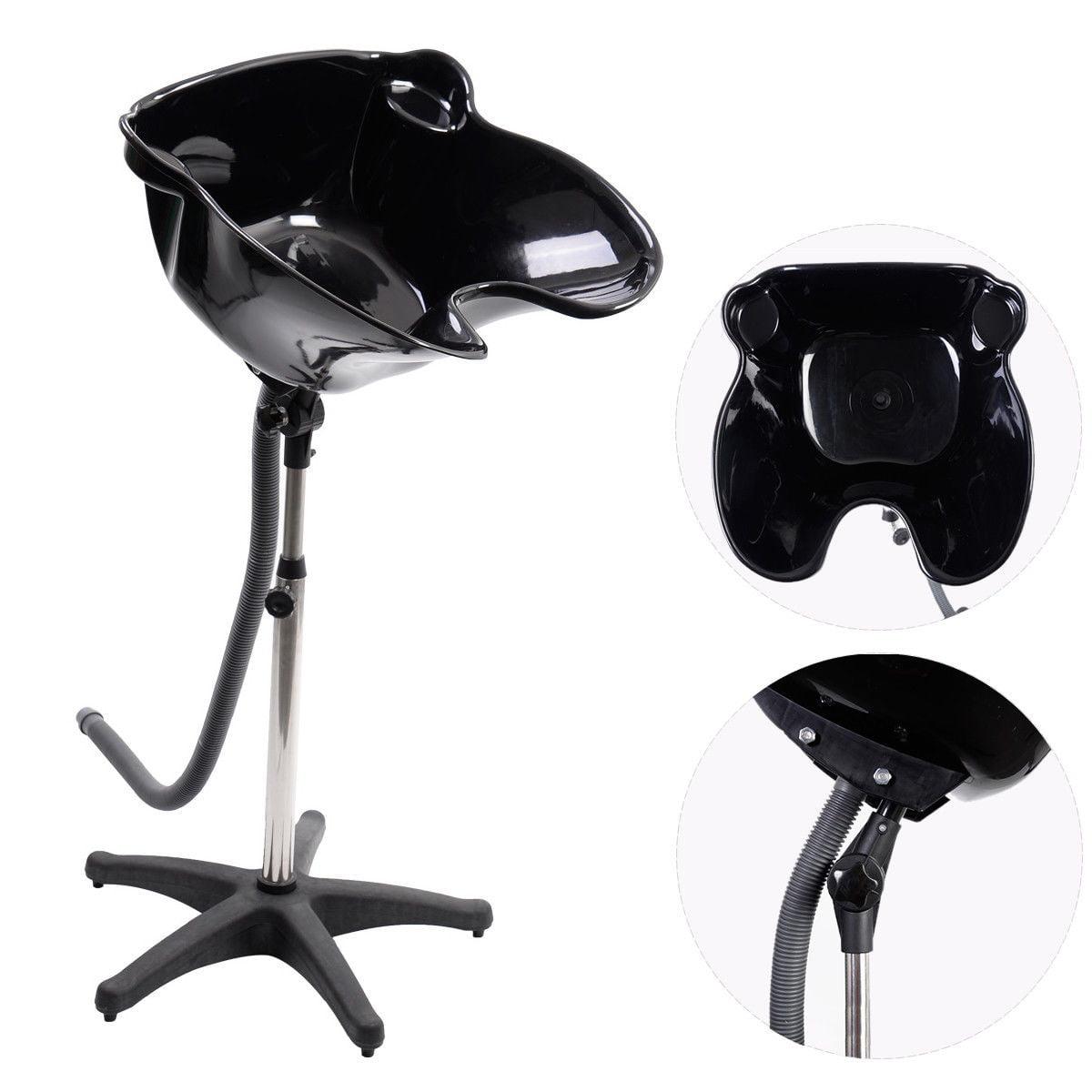 Pro Portable Shampoo Basin Height Adjustable Salon Hair Treatment Bowl by Costway