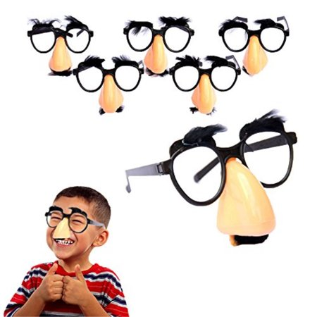 Glasses With Nose And Mustache (Toy Cubby Classic Disguise Nose and Mustache Glasses - 6)
