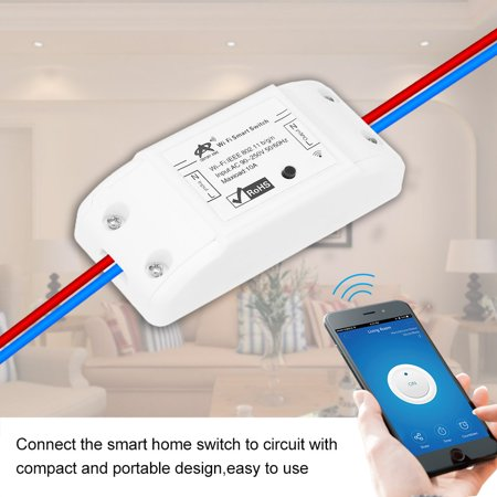 New Tuya Wifi Switch 10A/2200W Wireless Remote Switch DIY Relay Module for  Android/IOS APP Control Timer Compatible with Home for Universal Smart Home