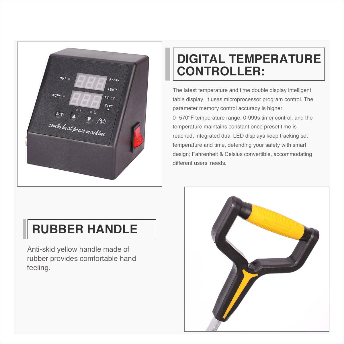 Details about  /Multi Heat Press Machine Digital Control Box-Temperature Time For T-Shirt Heat