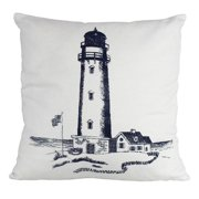 Handcrafted Nautical Decor Lighthouse Decorative Throw Pillow