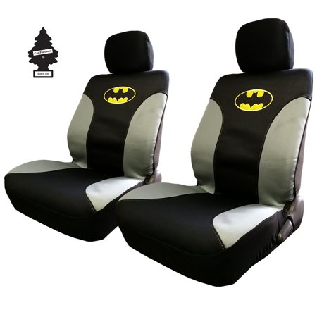 Pair Of New DC Comic Batman Sideless Neoprene Waterproof Car Seat Covers With Air Freshener