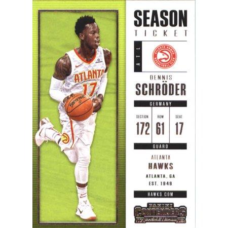 2017-18 Panini Contenders Season Ticket #55 Dennis Schroder Atlanta Hawks Basketball Card](Atlanta Halloween Ball 2017)