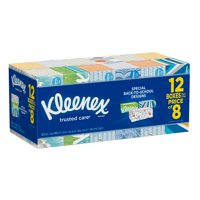 1,728 Tissues, BY Kleenex Trusted Care Everyday Facial Tissues, 144 ct./12 pk. Back To School Design