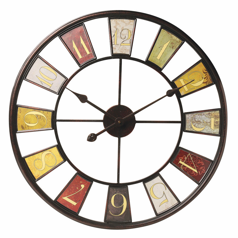 "Numerical Tiles Oversized Wall Clock - 22"" X 34"""