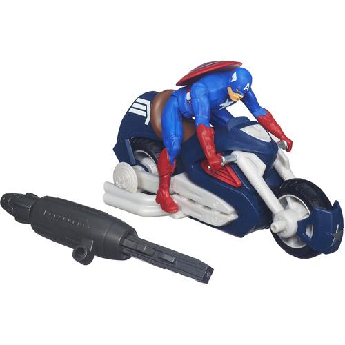 Marvel Captain America Blast 'N Go Assault Cycle Vehicle